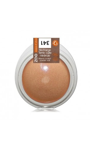 Recharge Terre cuite bio - Cuivre Doré - ZAO Make Up - 341 - 15 gr.