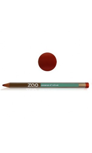 Crayon bio - Rouge cuivré - ZAO Make Up - 610- Multifonction
