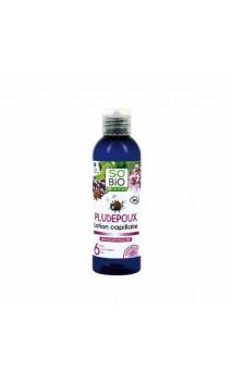Lotion capillaire anti-poux bio PLUDEPOUX (avec peigne) - SO'BiO Étic - 100 ml.