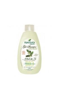 Gel & Champú ecológico Extra suave Árbol de té - Sin Sulfatos - Naetura - 500 ml.