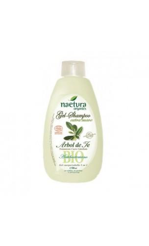 Gel & Shampooing BIO Extra doux Arbre à thé - Naetura - 500 ml.