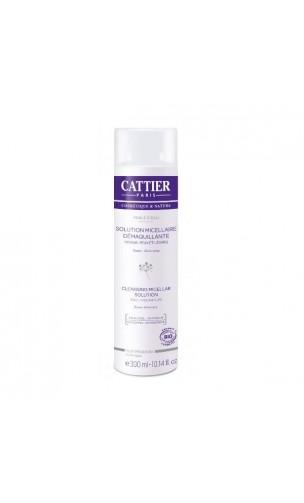 Solution Micellaire démaquillante bio Perle d'eau Rose & Aloe vera (Sans alcool ni parfum) - Cattier - 300 ml.