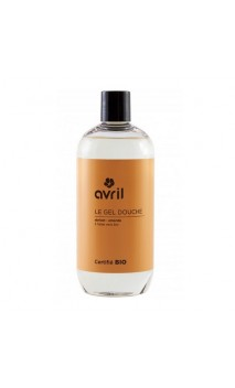 Gel douche bio Abricot & Amandes - Avril - 500 ml.