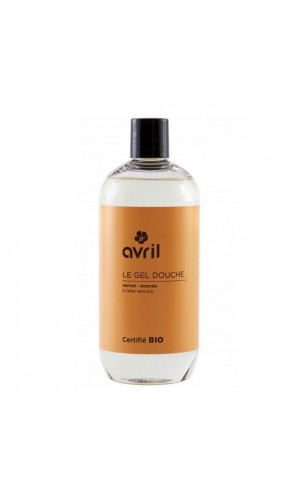 Gel douche bio Abricot & Amandes - Avril - 500 ml.