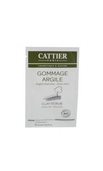 Sachet Unidose Gommage bio à l'argile blanche - Cattier - 12.5 ml.