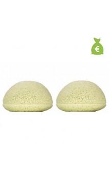 2 x Éponge Konjac Originale Argile verte Peau mixte - KONGY