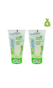 2 x Lubricante natural neutro - BIOglide - 40ml.