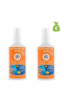 2 x Spray solaire naturel facteur 50 - Alphanova Sun - 125 gr.