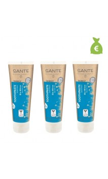 3 x Dentífrico ecológico menta con flúor - SANTE - 75 ml.