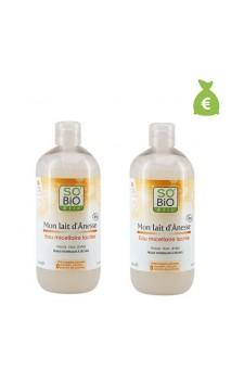 2 x Agua micelar láctea ecológica Mon lait d'Ânesse - So'Bio Etic - 500 ml.