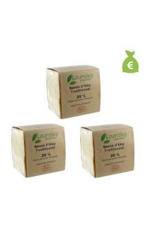 3 x Jabón de Alepo bio tradicional Laurel al 20 - Lauralep - 200 gr.