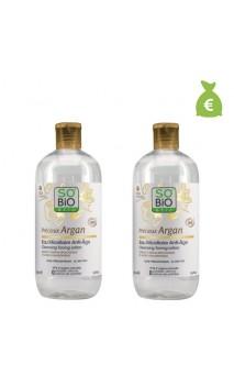 2 x Eau micellaire bio anti-âge Précieux argan - SO'BiO étic - 500 ml.