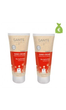 2 x Crema de manos bio Goji & Oliva - SANTE 100 ml.