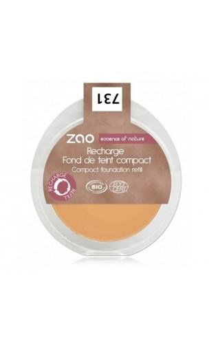Recharge Fond de teint compact BIO 731 - Abricot - Zao Make Up - 7,5 gr.