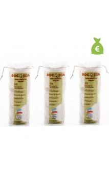 3 x Discos desmaquillantes de algodón bio - BOCOTON - 60 Ud.