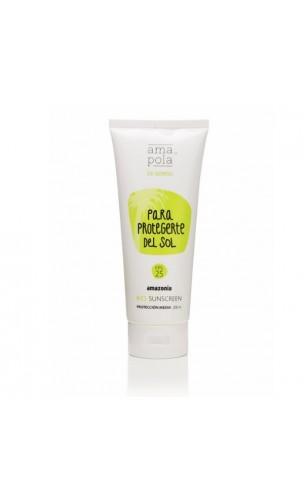 """Protector solar natural FPS 25 """"Para protegerte del sol"""" (Cara y cuerpo) - Amapola Amazonia - 200 ml."""