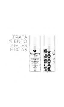 Crème visage bio Anti-âge & Anti-taches - Acide Hyaluronique - Peau mixte - Savages - 50 ml.