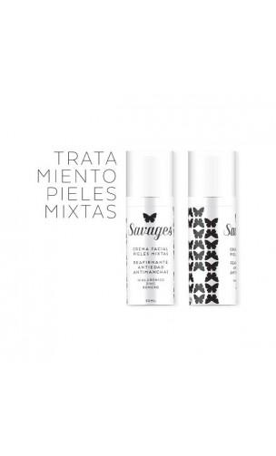 Crème visage bio Anti-âge & Anti-tâches - Acide Hyaluronique - Peau mixte - Savages - 50 ml.