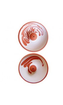 Brûle-encens en céramique avec décoration - BioAroma