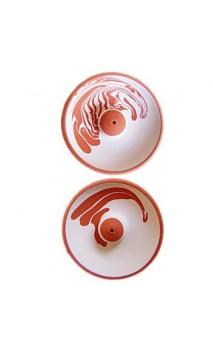 Incensario de cerámica con decoración a aguas - BioAroma