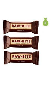 3 x Barre énergétique BIO Cacao - Raw Bite - 50 gr.