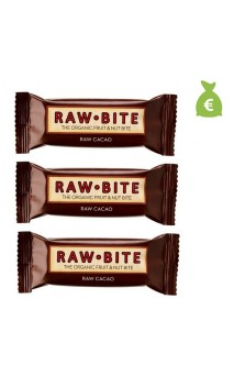 3 x Súperbarrita energética ecológica Cacao - Raw Bite - 50 gr.