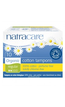 Tampón Normal algodón bio sin aplicador - Natracare - 10 Ud.
