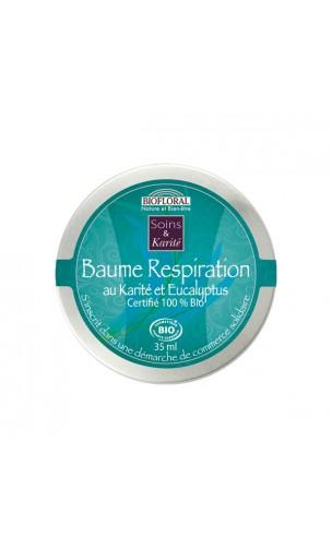 Bálsamo respiración ecológico Karité & Eucalipto bio - BIOFLORAL - 35 ml.
