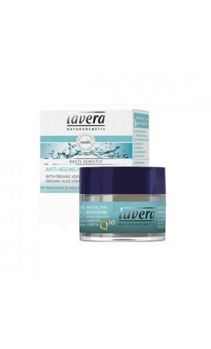 Crème de nuit bio Anti-âge Q10 Basis Sensitiv - Lavera - 50 ml.