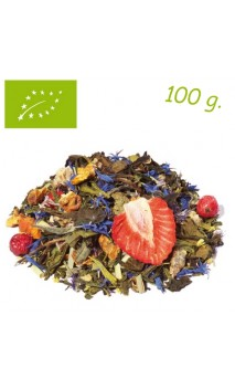 Té verde/blanco Bouquet Fleuri Spring Love Organic (Fresa & Mango) - Té ecológico a granel - Alveus
