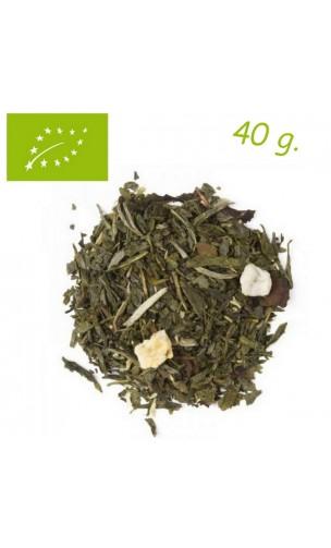 Thé vert/blanc Sorbet à la Mangue - Thé bio en vrac - Aromas de té