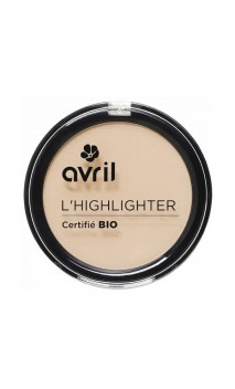 Poudre compacte Illuminatrice bio Highlighter - Avril - 8,5 gr.