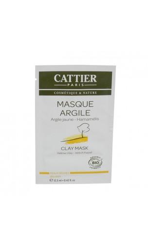 Sachet Unidose Masque BIO à l'argile jaune - Peau sèche - Cattier - 100 ml.