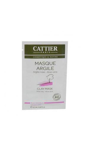 Sachet Unidose Masque BIO à l'argile rose -  Peau Sensible - Cattier - 100 ml.