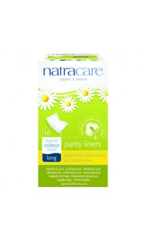 Protège-slip Long Coton bio Sachets individuels - Natracare - 16 Ud.