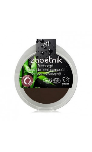 Recharge Fond de teint compact BIO 741 - Moka - Zao Make Up - 7,5 gr.