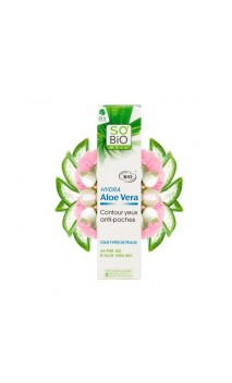 Contorno de ojos ecológico Anti-bolsas Hydra Aloe vera - SO'BiO étic - 15 ml.