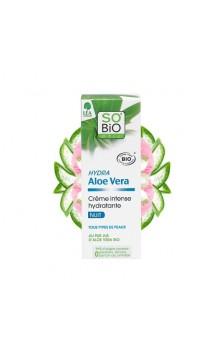 Crème visage bio Hydratante Intense (Nuit) Hydra Aloe vera - SO'BiO étic - 50 ml.