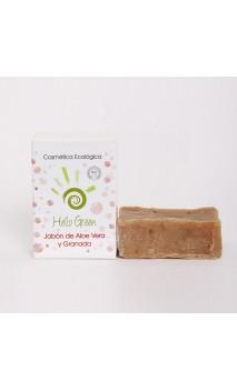 Jabón aloe vera + granada ecológico - Hello Green - 85 gr.