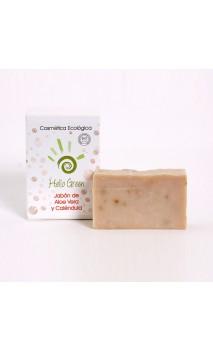 Jabón aloe vera + caléndula ecológico - Hello Green - 85 gr.