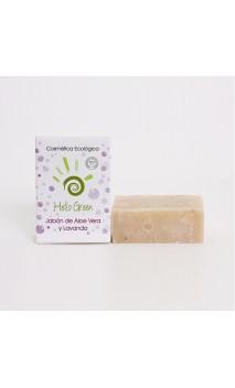 Jabón aloe vera + lavanda ecológico - Hello Green - 85 gr.