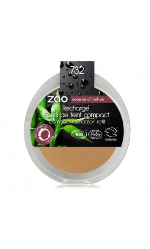 Recharge Fond de teint compact BIO 732 - Pétale de rose - Zao Make Up - 7,5 gr.