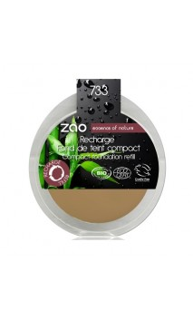 Recharge Fond de teint compact BIO 733 - Neutre - Zao Make Up - 7,5 gr.