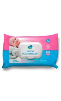 Lingettes humides bio pour bébé - Sans parfum - Bjobj - 72 ud.