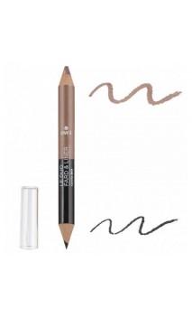 Crayon Duo BIO Fard à paupières & Crayon pour les yeux Noir Charbon / Taupe Nacré - Avril