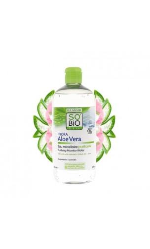 Eau micellaire bio Nettoyante Hydra Aloe vera - So'Bio Etic - 500 ml.