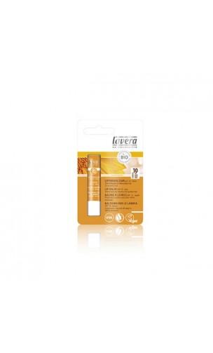 Baume à lèvres bio Protection solaire SPF 10 - Lavera - 4,5 g.