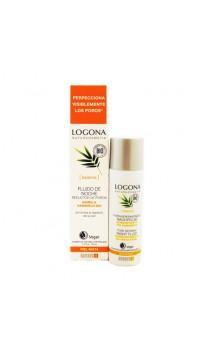 Fluide de nuit Réducteur de pores Bambou & Hamamelis bio - Peau mixte - LOGONA - 30 ml.