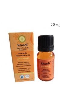 Huile bio Anti-âge Visage - Khadi - 10 ml.