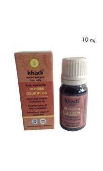 Aceite corporal ecológico Anticelulítico 10 Hierbas - Khadi - 10 ml.